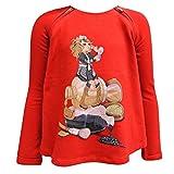 mayoral - Sweater Mädchen Sweatshirt mit Mädchen Motiv, rot - 110rot