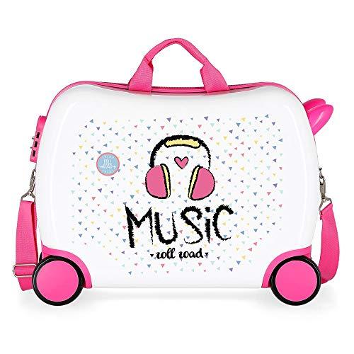 Roll Road Music Valigia per bambini, 50 cm, Multicolore
