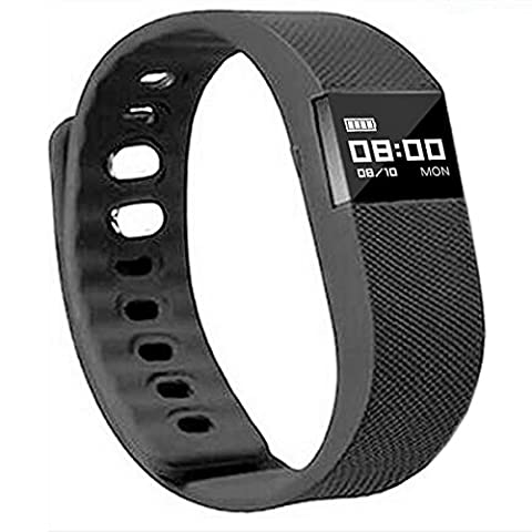 NAKOSITE FT2433 Best Fitness Activity Tracker Watch, Pedometer, Step Counter, Calorie Counter, Distance, Sleep Monitor, Sport Watch, Bluetooth 4.0 for Android 4.4 or IOS 7.1 and above. PLUS: SMS, Caller ID, Alarm Alert, Anti-Phone Loss, Find Phone, Take Photos, SNS Alerts such as Whatsapp and Facebook. Colour Black, 365 days Guarantee. Bonus: Fitness Ebook