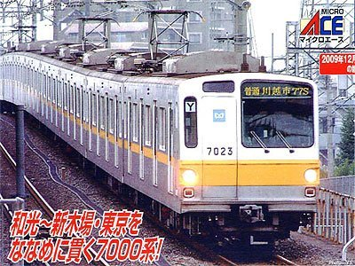 Foto de Tokyo Metro Series 7000 Late Type w/Cooler (Add-On 4-Car Set) (Model Train) (japan import)