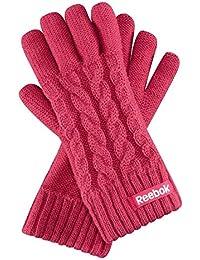 Reebok Logo Cab Glove Damen Winter Sport Handschuhe Rosa Neu Größe-S