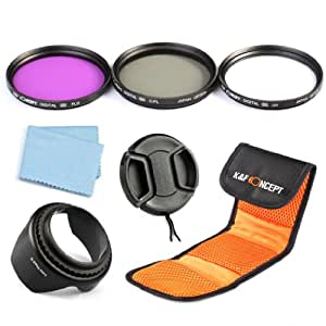 K & F 8 Piece Concept Slim 77 MM UV CPL FLD Filter Set Accessory Lens Camera Lens Accessory Kit for Canon 6D 5D Mark II, 5D Mark III and Nikon DSLR D700 D610 D800 Camera Cleaning Cloth for Lenses 77 MM Lens Cleaning Pen for Lenses Objektivkappenhalter Filter Case