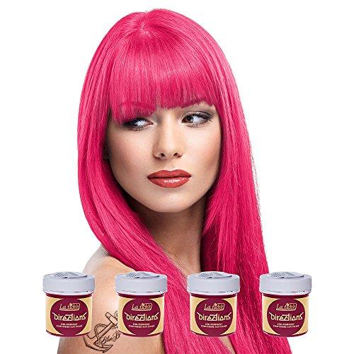 La Riche Directions Haartönung, mittlere Haltbarkeit, verschiedene Farben erhältlich, 88ml, 4Packungen (Ohne Ppd-haar-farbe)
