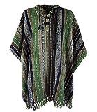 Guru-Shop Poncho Hippie Chic, Andenponcho, Herren/Damen, Mehrfarbig, Baumwolle, Size:One Size, Jacken, Ponchos Alternative Bekleidung