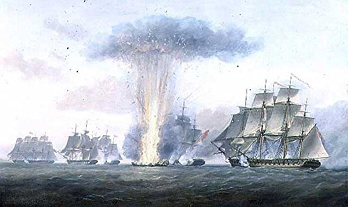 Kunstdruck/Poster: Nicholas Pocock H M S Lively capturing The Spanish Frigate Clara Off Cape St Mary c 1806