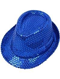 Gysad Unisex Jazz Cap Lentejuelas Sombrero de Copa Adulto Sombrero Fiesta  Danza da856a14fe2