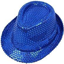2170f05e682f9 Kentop Sombrero de Jazz Cap Lentejuelas Sombrero de Copa Niño Sombrero  Fiesta Danza