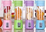 #1: Vmoni Portable Blender USB Juicer Bottle Electric Rechargeable Juice Mixer Blender(Included MICRO USB charging cable) (Assorted Color Will Be Send)