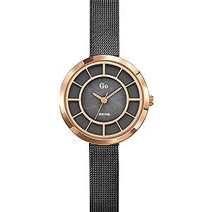 Go Girl Only - 695027 - Reloj analógico de cuarzo para mujer, esfera gris, pulsera de acero gris de Go Girl Only