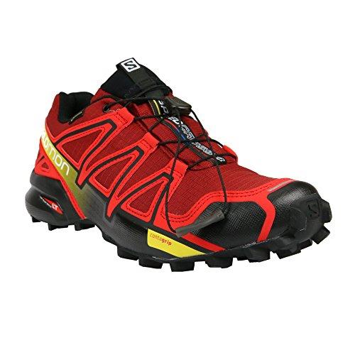 Salomon Speedcross 4 Gtx, Scarpe da Trail Running Uomo, Rosso (Brique-X/Radiant Red/Black), 42 2/3 EU