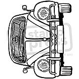 A7 'VW Escarabajo de Coches' Sello de Goma (Desmontado) (SP00005843)
