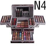 132 Farben Schmink Set Make-up Kit Geschenk Kosmetik, FantasyDay 94 Warme Natürliche Lidschatten Palette Geschenkboxen mit Concealer, Gesicht Puder, Rouge, Lippenstift, Augenbrauenpuder, Eyeliner #4