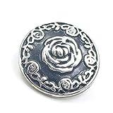 Time4-Charms Chunks 162 Schild mit Rose für Armband & Kette