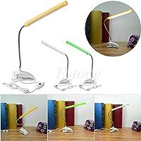 Flexible LED-Leselampe Wiederaufladbare Clip-on Bett Tisch Schreibtisch Lampe Studie neben