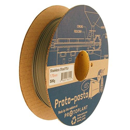 proto-pasta ssp11705levigabile en acier inoxydable, bobine PLA 1.75mm, 500g, gris