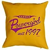 Zum 18. Geburtstag! Kissen mit Füllung - German Powergirl seit 1997 - Ein cooles Geschenk zum 18ten!