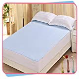 #8: Rite Clique Waterproof Double Bed Mattress Protector Sheet with Elastic Straps l