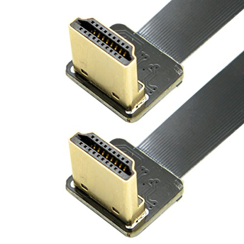 jser cyfpv Dual 90Grad Nach Unten abgewinkelt HDMI Typ A Stecker auf Stecker HDTV FPC Flach Kabel 20cm für FPV HDTV Multicopter Aerial Photography Hdmi-hdmi-flachkabel