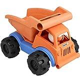 Peradix Autocarro con Cassone Ribaltabile Spingere Lungo la Macchina,Veicoli per la Demolizione di Costruzioni in Plastica di Legno per Bambini,Push-to Toy Dumper(con Ventola a Manovella)