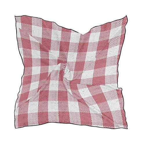 Engel Hobo Bag (White Red Checked Plaid Square Scarf Soft Breathable Neck Scarf Neckerchief Digital Printed Headscarf Headband)