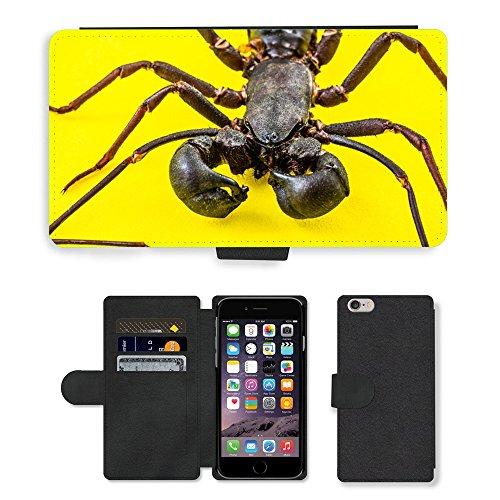"GoGoMobile PU Leather Flip Custodia Protettiva Case Cover per // M00119426 Scorpion Geisselskorpione Uropygi // Apple iPhone 6 PLUS 5.5"""