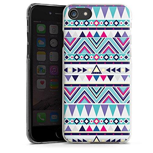 Apple iPhone X Silikon Hülle Case Schutzhülle Muster Dreiecke Bunt Hard Case transparent