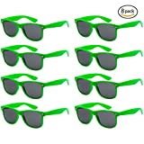 FSMILING Neon Farben Party Gefälligkeiten Herzform Sonnenbrille Set für Kinder Erwachsene (8 Stück Grün)