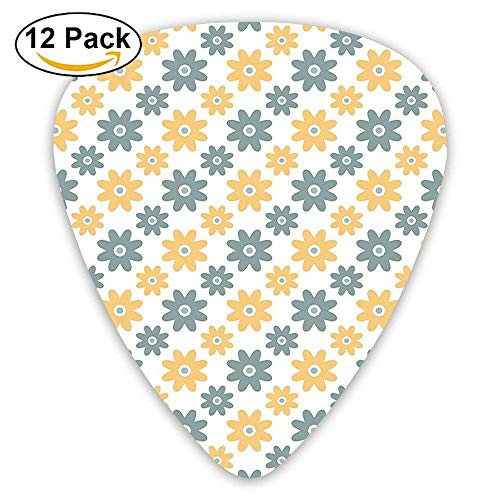 Lively Cute Wildflowers Daisies Retro Fashion Spring Nature Guitar Picks 12/Pack -