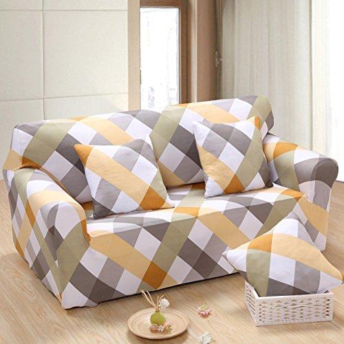 Hotniu Elástico 3 Cojín Sofá Cover Lavable Antideslizante Slipcovers para sillas y Sofás 1 Pieza(3 Plazas,Patrón #7)