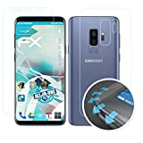 atFolix Schutzfolie passend für Samsung Galaxy S9 Plus Folie, ultraklare & Flexible FX Bildschirmschutzfolie (3er Set)