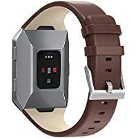 SnowCinda Armband Fur Fitbit Ionic, Verstellbares Ersatzarmband Unisex Leder Uhrenarmband Fitness Zubehorteil mit Metallschliese Fur Fitbit Ionic Fur Fitbit Ionic