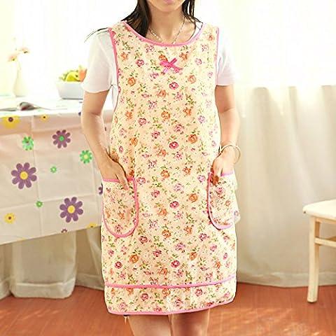 Besoins quotidiens du mobilier WWYXHQC La version coréenne de la cuisine moderne imperméable tablier tablier résistant à l'huile accueil jolie princesse robe tablier cordon de taille femme ,3552 bonheur Carnival
