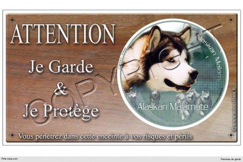 panneau-chien-ou-plaque-alaskan-malamute-02-30-cm