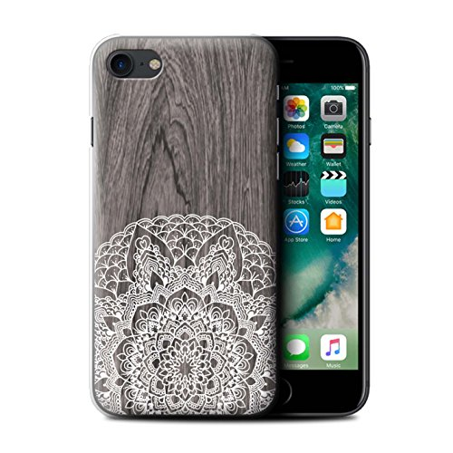 Stuff4 Hülle / Case für Apple iPhone 7 Plus / Ahornholz Muster / Fein Spitzenborte Holz Kollektion Rustikales