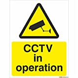 CCTV in Operation Sign 150mm x 200mm - Rigid Plastic