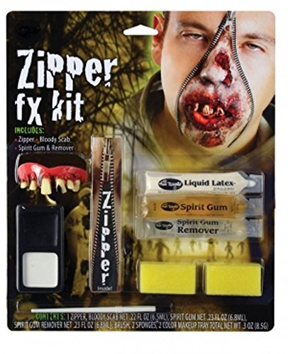 Zipper FX Set Halloween Prosthetic Fancy Dress Make Up Face Paint Vampire Devil by RIDDLE WITH (Prosthetics Makeup Halloween)