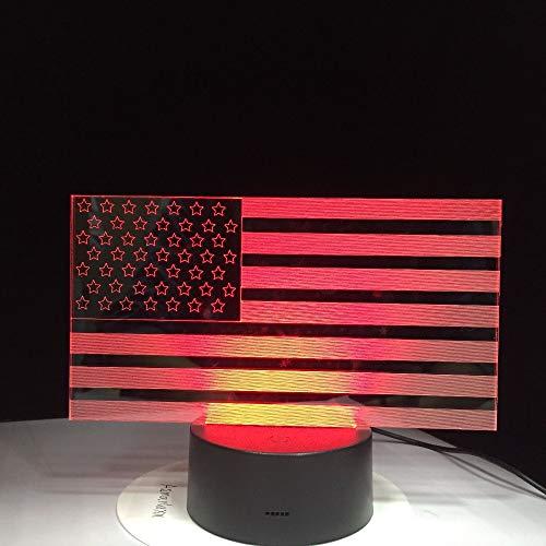 Kreative 7 Bunte Farbverläufe Atmosphäre Visuelle 3D Usa Flagge Led Nachtlicht Usb Tischlampe Nacht Home Decor Geschenk -