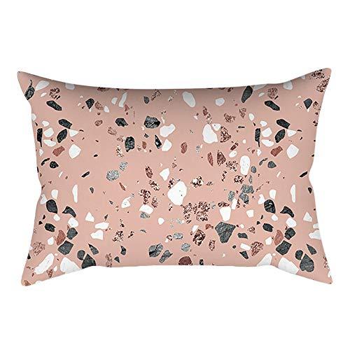 Felicove Rose Gold Pink Kissenbezug - Quadratischer Kissenbezug Bettwaren Kopfkissen Zierkissen Zierkissenbezüge Kissen Baby Kopfkissen(30 cm x 50 cm)