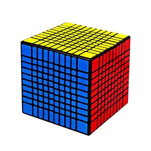 Lecc 10 * 10 * 10 Geschwindigkeit Cube Magic Sticker Puzzle Glattes Gefühl Gute Geschwindigkeit Kreatives Gehirntraining Spiel Bildung Spielzeug Geschenk Wettbewerb Spiel 10. Reihen