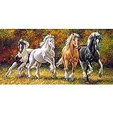 alles-meine.de GmbH Puzzle 4000 Teile - Panorama -  Copy of Born to Run  - Pferde im Galopp / WI..