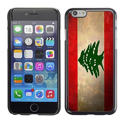 Graphic4You Vintage Uralt Flagge Von Iran Iraner Design Harte Hülle Case Tasche Schutzhülle für Apple iPhone 6 / 6S Libanon Libanesisch