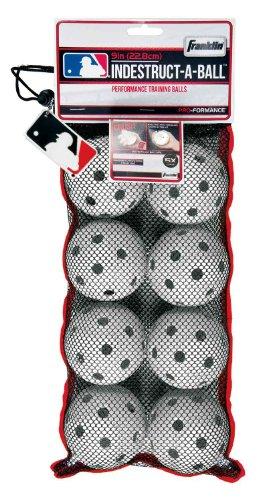 Franklin Sports Aero-Strike Baseball Plastic Training Balls 8pc, Colors May Vary -