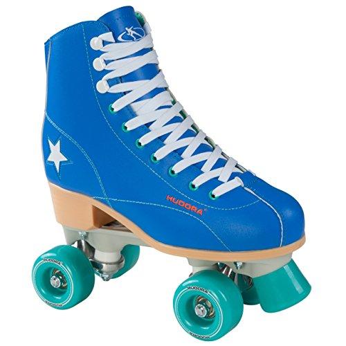 HUDORA Rollschuhe Disco-Roller - Roller-Skates, blau/grün, Gr. 43, 13199