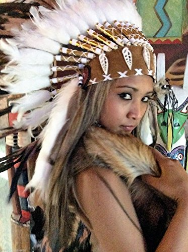Federhaube Indianer, Karneval, Fotoshooting, Federhaube Dekoration Kopfschmuck coiffe indienne Real Feather war bonnet Headdress Chief War bonnet Real Feathers Indian Headdress Little Big Horn Federhaube