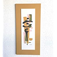 Cuadro Moderno, Pintura Decorativa Abstracta. Pintado a mano. Decoración minimalista, Zen, Acrílico sobre madera. Alargado Vertical.