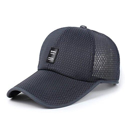 Preisvergleich Produktbild VEASTI Unisex Baseballkappe Baseball Cap Sandwich Peak Mesh Trucker Kappe