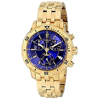 Tissot T0674173304100 – Reloj cronógrafo de caballero de cuarzo con correa de acero inoxidable dorada