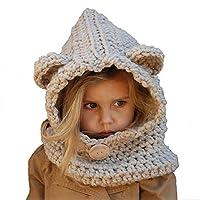 Aclth Chicos de Invierno para niñas Sombrero de niño Niños Invierno Capucha de Punto Bufandas Gorros Orejas Orejeras Gorro de Lana para Actividades de Snowboard al Aire Libre