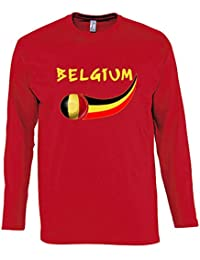 KiarenzaFD Camiseta Camiseta Fútbol Selección Lukaku Bélgica 9Streetwear Shirts, KTS01908-S-red, Rojo, Small