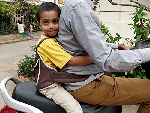 LifeKrafts Child Safety Belt for Children when travelling on Motorbikes and Scooters. Belts Secures the Child to the Parent . Soft and Cushion Based Belt